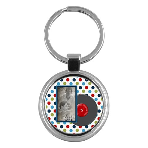 Rockin  Around The Christmas Tree Keychain By Lisa Minor   Key Chain (round)   Qbs9jwbfogue   Www Artscow Com Front