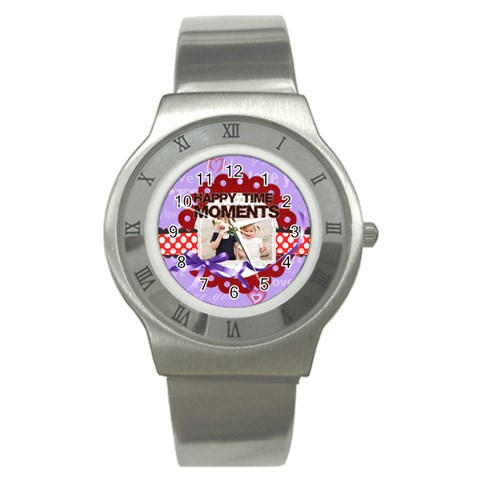 Happy Memonts By Joely   Stainless Steel Watch   Vwlg7v6q1de1   Www Artscow Com Front