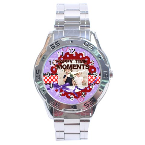 Happy Memonts By Joely   Stainless Steel Analogue Watch   M1takue6w9e9   Www Artscow Com Front