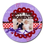 happy memonts - Collage Round Mousepad