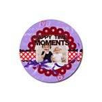 happy memonts - Rubber Coaster (Round)