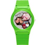 Family Round Plastic Sport Watch Small