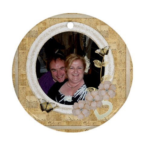 L amour 3 Single Sided Ornament By Catvinnat   Ornament (round)   Qb7wb1188ceo   Www Artscow Com Front