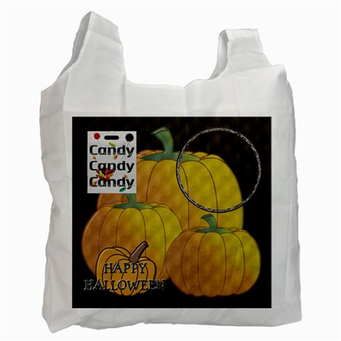 Halloween Candy Recycle Bag By Lil    Recycle Bag (one Side)   Rsn2m91507zx   Www Artscow Com Front