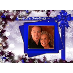 Seasons Christmas Greeting 3d Circle Card Blue By Deborah   Circle 3d Greeting Card (7x5)   5elsxgya11gf   Www Artscow Com Front