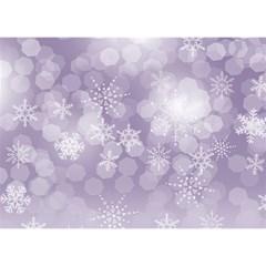 Seasons Christmas Greeting 3d Circle Card Blue By Deborah   Circle 3d Greeting Card (7x5)   5elsxgya11gf   Www Artscow Com Back