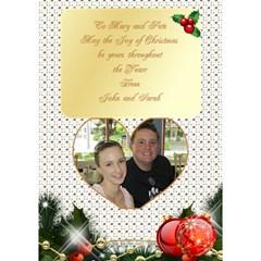 Merry Christmas 3d Heart Card 2 By Deborah   Heart Bottom 3d Greeting Card (7x5)   Pknhbb2msva4   Www Artscow Com Inside
