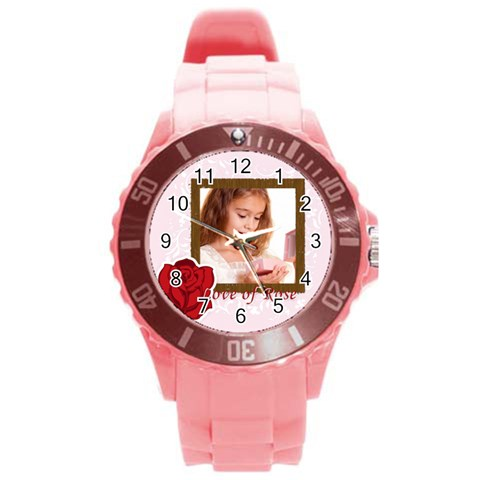 Love By Joely   Round Plastic Sport Watch (l)   Ccrrhg6ma5rw   Www Artscow Com Front