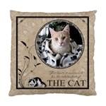 Cat Cushion Case (1 Sided) - Standard Cushion Case (One Side)