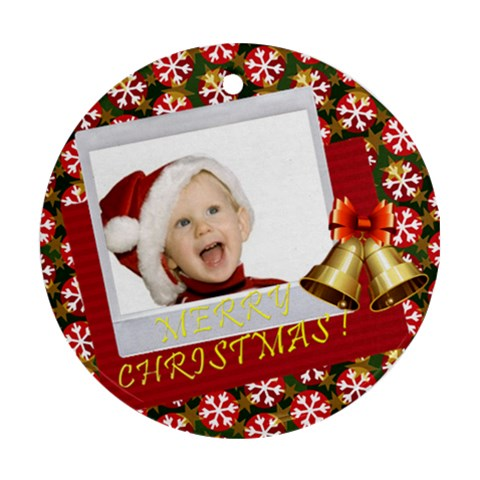 Xmas By Man   Ornament (round)   Spufuxkssf39   Www Artscow Com Front