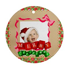 Xmas By Man   Round Ornament (two Sides)   Llcpbpu75xl0   Www Artscow Com Front