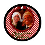 Little Candy Stripe Ornament - Ornament (Round)