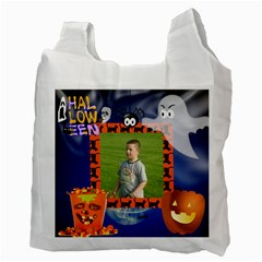 Halloween Trick Or Treat Recycle Bag By Kim Blair   Recycle Bag (two Side)   Gs4x28ip6bdw   Www Artscow Com Back