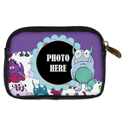 Monster Party Camera Bag 2 By Lisa Minor   Digital Camera Leather Case   Rkwpoblm1tzl   Www Artscow Com Back