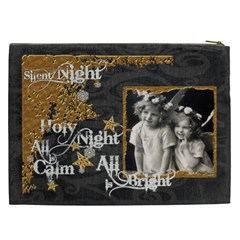 Silent Night  Xxl Cosmetics Bag By Catvinnat   Cosmetic Bag (xxl)   Ugp2x4m7n9fk   Www Artscow Com Back