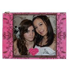 Rose Heart  Xxl Cosmetics Bag By Catvinnat   Cosmetic Bag (xxl)   12cubiw0nrru   Www Artscow Com Front