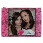 Rose Heart  XXL Cosmetics Bag - Cosmetic Bag (XXL)