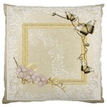Butterfly Large Cushion Case single sided - Large Cushion Case (One Side)