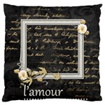 L amour Large Cushion Case single sided - Large Cushion Case (One Side)