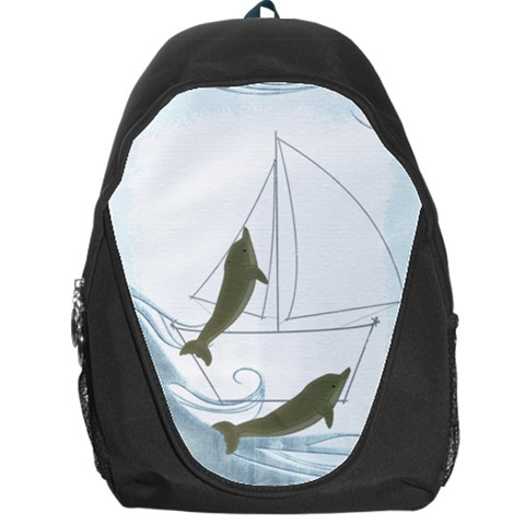 Dolphins  Backpack By Catvinnat   Backpack Bag   Kj2gydyd0ilf   Www Artscow Com Front