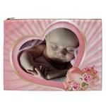 Pink Heart Cosmetic Bag XXL - Cosmetic Bag (XXL)