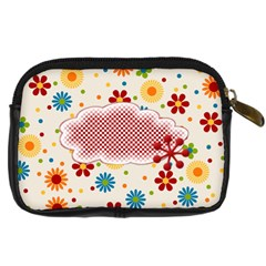 Celebrate May Camera Case 2 By Lisa Minor   Digital Camera Leather Case   2rzfc7rvvrc9   Www Artscow Com Back