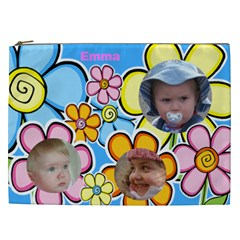 Little Petal Cosmetic Bag Xxl By Deborah   Cosmetic Bag (xxl)   Sfkaiq8r7ek2   Www Artscow Com Front