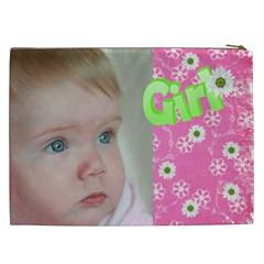 Girl Cosmetic Bag Xxl By Deborah   Cosmetic Bag (xxl)   03dcyg71j2du   Www Artscow Com Back