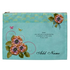 Cosmaetic Bag (xxl)   Flowers Bloom By Jennyl   Cosmetic Bag (xxl)   72ryagr76ogh   Www Artscow Com Front