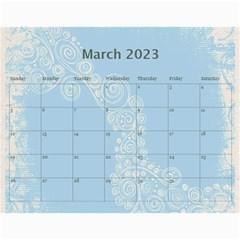 Fantasia Funky Turquoise 2015 Calendar By Catvinnat   Wall Calendar 11  X 8 5  (12 Months)   4alalic29q70   Www Artscow Com Mar 2015