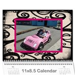 Fantasia FAB1 Classic pink frame 2015 calendar - Wall Calendar 11  x 8.5  (12-Months)