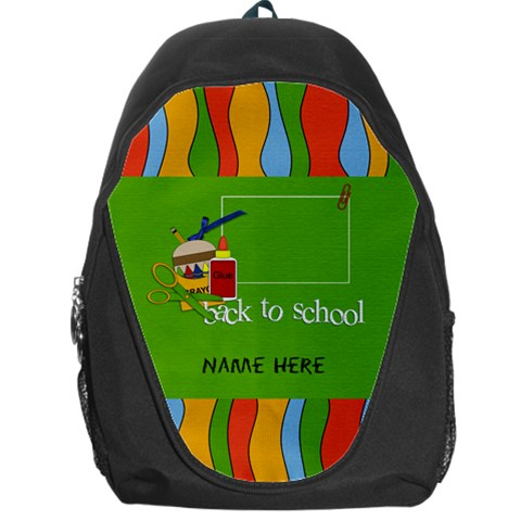 Backpack   Back To School2 By Jennyl   Backpack Bag   0xig3rrqnko2   Www Artscow Com Front