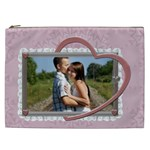 Pink Heart XXL Cosmetic Bag - Cosmetic Bag (XXL)
