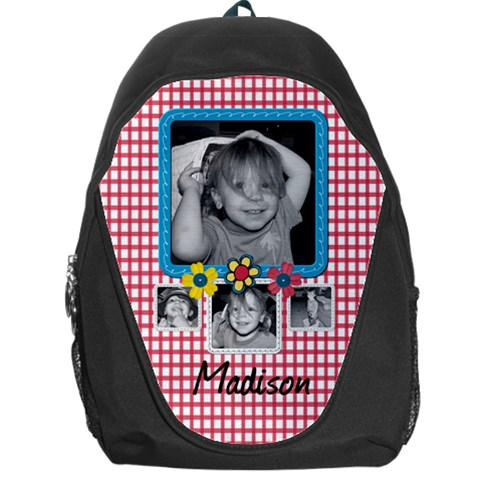 Backpack Red Checks By Martha Meier   Backpack Bag   F9k8bzu1a4mn   Www Artscow Com Front