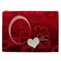I Heart You Red Xxl Cosmetic Case By Ellan   Cosmetic Bag (xxl)   7kmbxswrcxxv   Www Artscow Com Front