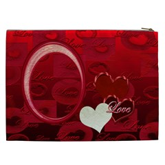 I Heart You Red Xxl Cosmetic Case By Ellan   Cosmetic Bag (xxl)   7kmbxswrcxxv   Www Artscow Com Back
