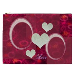 I Heart You Pink Xxl Cosmetic Case By Ellan   Cosmetic Bag (xxl)   690e8x5mcsxa   Www Artscow Com Front