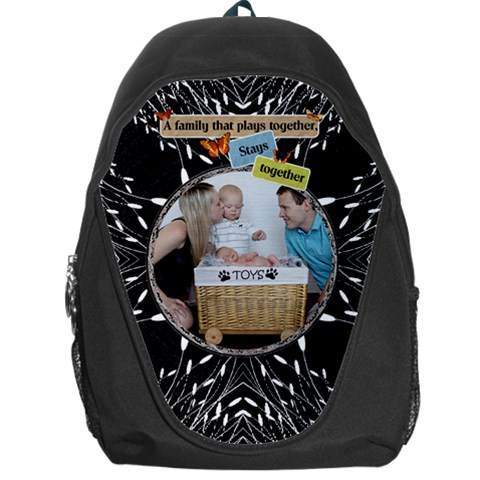 Family Backpag Bag By Lil    Backpack Bag   3g3box86jf07   Www Artscow Com Front