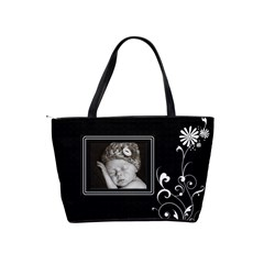 Black/white Classic Shoulder Handbag By Lil    Classic Shoulder Handbag   N7phqb0wzbba   Www Artscow Com Back
