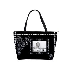 Black Pearl Classic Shoulder Handbag By Lil    Classic Shoulder Handbag   Ivm6om4nm8q2   Www Artscow Com Front