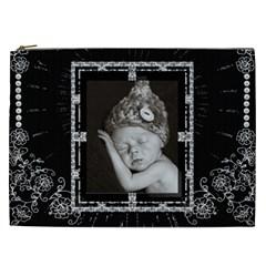 Black Design Xxl Cosmetic Bag By Lil    Cosmetic Bag (xxl)   Td6c80gwyorv   Www Artscow Com Front
