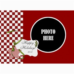 Christmas Clusters 5x7 Greeting Card 1 By Lisa Minor   5  X 7  Photo Cards   1k6h6kgfqof6   Www Artscow Com 7 x5 Photo Card - 10