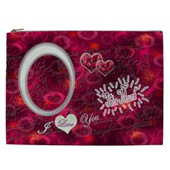 Love You This Much Cosmetic Case Xxl By Ellan   Cosmetic Bag (xxl)   Dlmbov43rgf8   Www Artscow Com Front