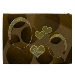 I Heart You Gold Love2 Cosmetic Case Xxl By Ellan   Cosmetic Bag (xxl)   Uyj44u7foskq   Www Artscow Com Back