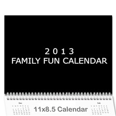 2013 Calender For Family By Vanessa   Wall Calendar 11  X 8 5  (12 Months)   Wklgs17hjh8m   Www Artscow Com Cover