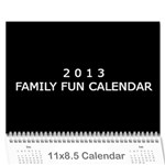 2013 Calender for family - Wall Calendar 11  x 8.5  (12-Months)