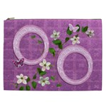 Spring flower floral purple Cosmetic Case XXL - Cosmetic Bag (XXL)