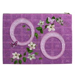 Spring Flower Floral Purple Cosmetic Case Xxl By Ellan   Cosmetic Bag (xxl)   K512xjpjmky6   Www Artscow Com Back