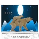 2015 Animal calendar 2 - Wall Calendar 11  x 8.5  (12-Months)