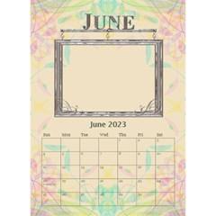 Pretty Desktop Calendar 6 x8 5  By Lil    Desktop Calendar 6  X 8 5    Acr77gbriccz   Www Artscow Com Jun 2015